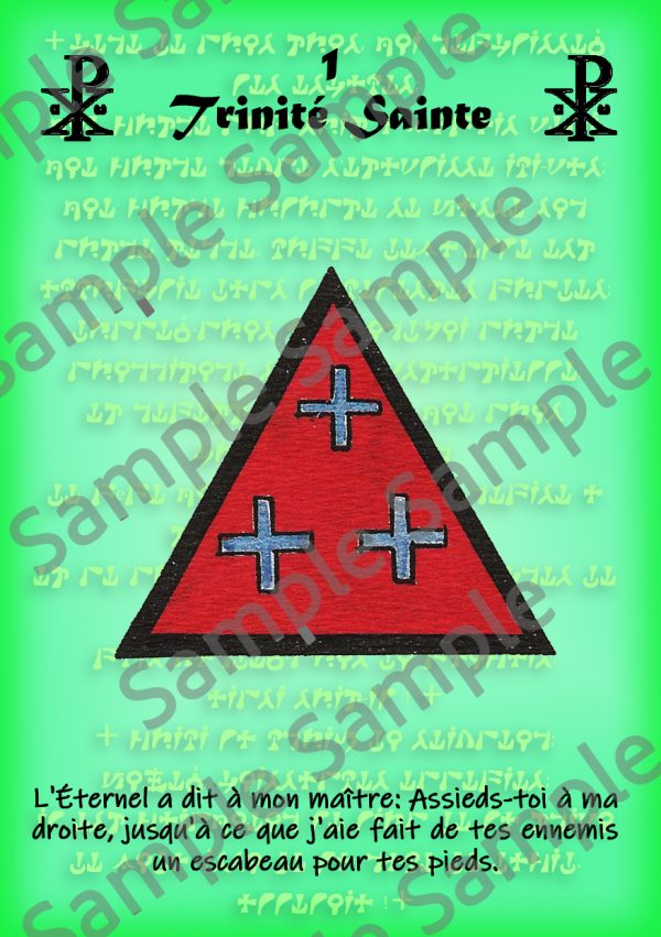 Pentacle Trinité Sainte